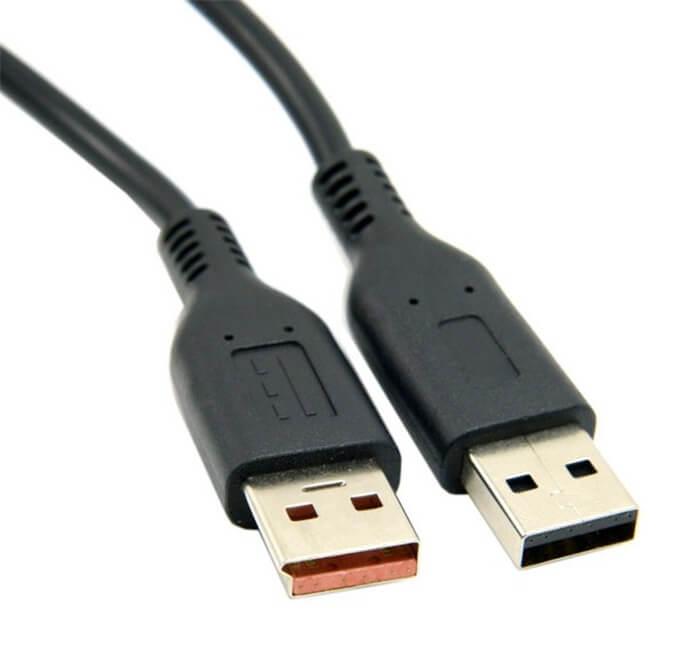 USB кабель для зарядки и передачи данных для ноутбука Lenovo Yoga 3 Pro (прямоугольный штекер)